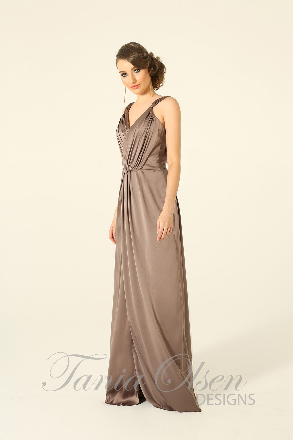 Destiny Mocha Evening Dress