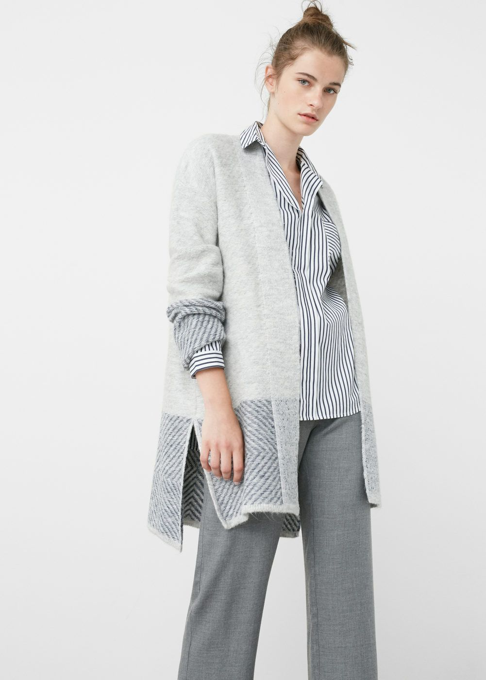 Textured cotton cardigan - Cardigans and sweaters for Woman ...