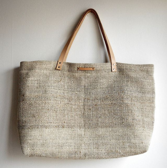 Hemp and cotton shopping tote by // Between the Lines //, via ...