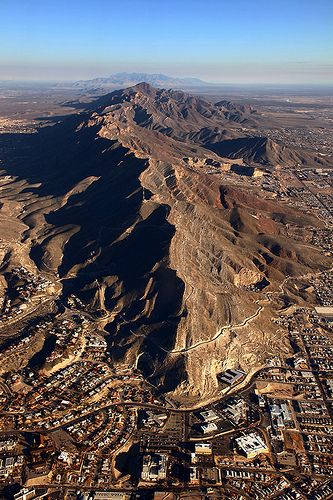 Aerial View Of El Paso Texas Aerial View Aerial Places To Travel