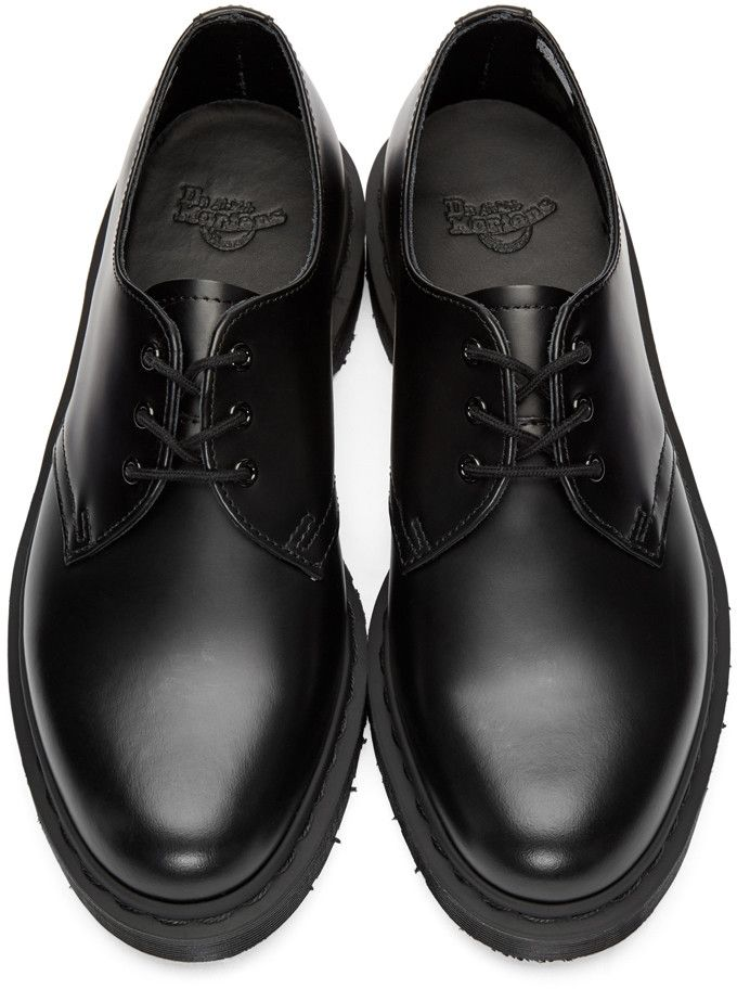 Dr. Martens - Black 1461 Mono Derbys  c5ed9c16ab8
