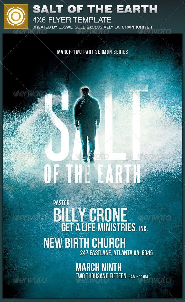 the salt of the earth church flyer template is great for any church