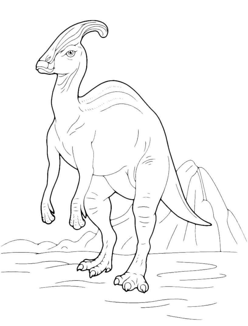 Outstanding Parasaurolophus Coloring Page Collection