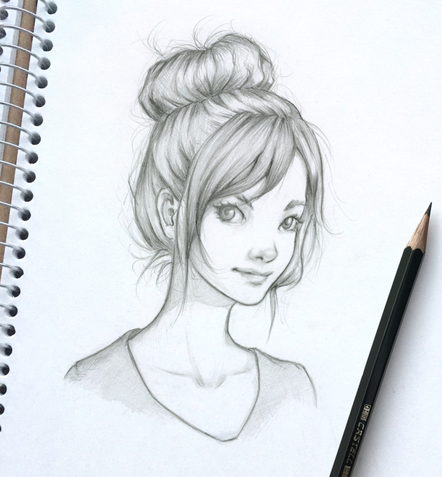See My Tutorial Here How To Draw A Nose From The Front Nose Drawing Hair Sketch Girl Face Drawing