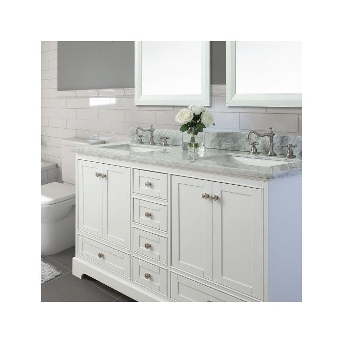 "Ancerre Designs Audrey 60"" Double Bath Vanity Set & Reviews Mesmerizing Bathroom Cabinet Reviews Inspiration"