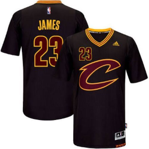 Cavs James Black Adidas Sleeved Pride Jersey NBA Finals  b840c1bf39e6