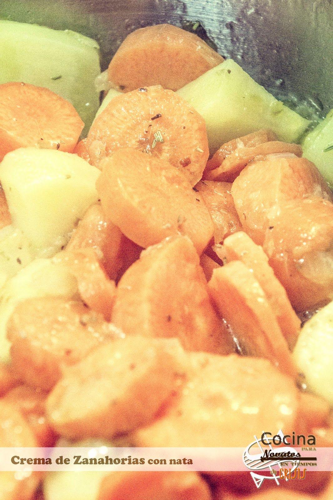 Cocina para novatos en tiempos de crisis crema de zanahoria con nata vegana pinterest - Cocina para novatos ...