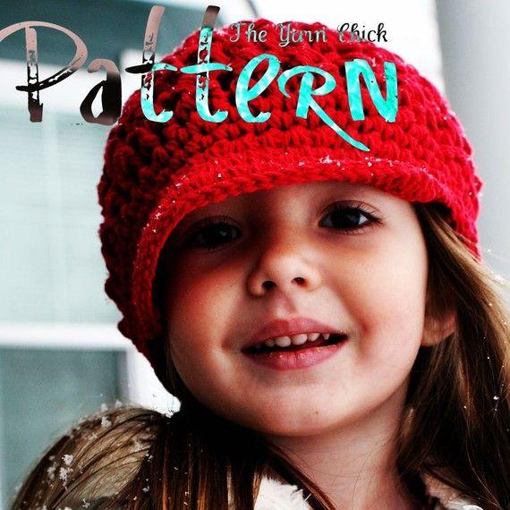 Pdf Crochet Pattern Breezy Brimmed Beanie Crochet Pinterest