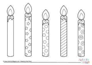 Birthday Candles Large Colouring 2 With Images Gene8lia Poya