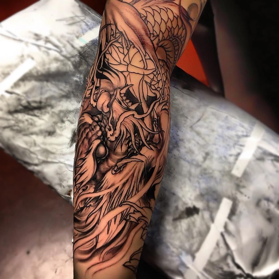 Asian Tattoo On Arm Asian tattoos, Oriental tattoo, Tattoos