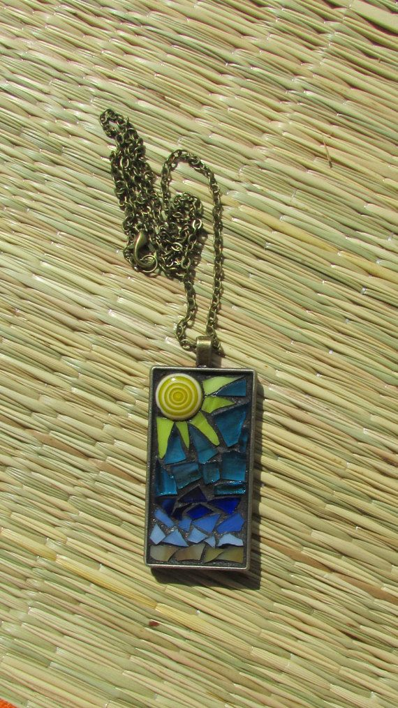 A Day At The Beach Jewelry Beading Pinterest Gl Pendants Black Grout And Mosaics