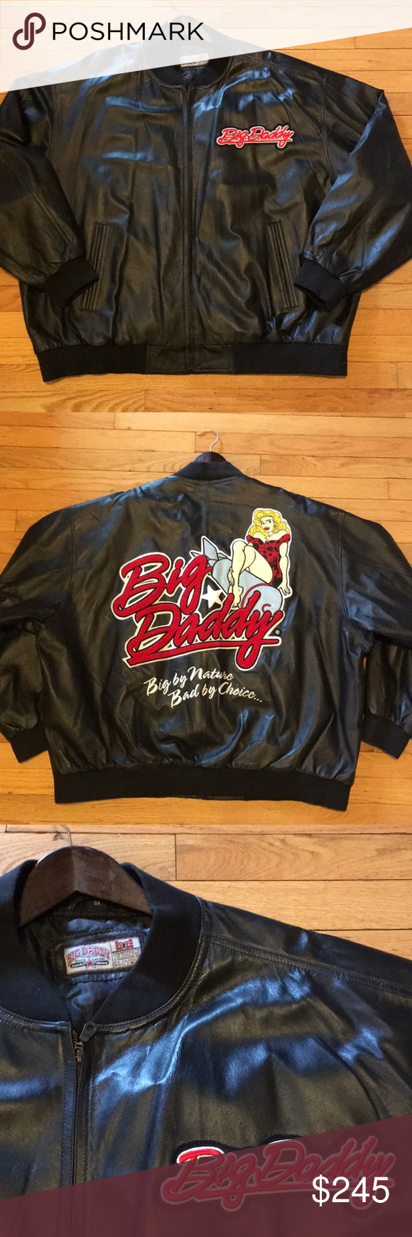 Big Daddy Special Edition 5xl Leather Jacket Leather Jacket Leather Jacket Black Jackets [ 1740 x 580 Pixel ]