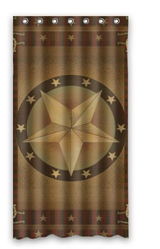 Western Texas Star Shower Curtain 48 Inch By 72 Inch Curtains