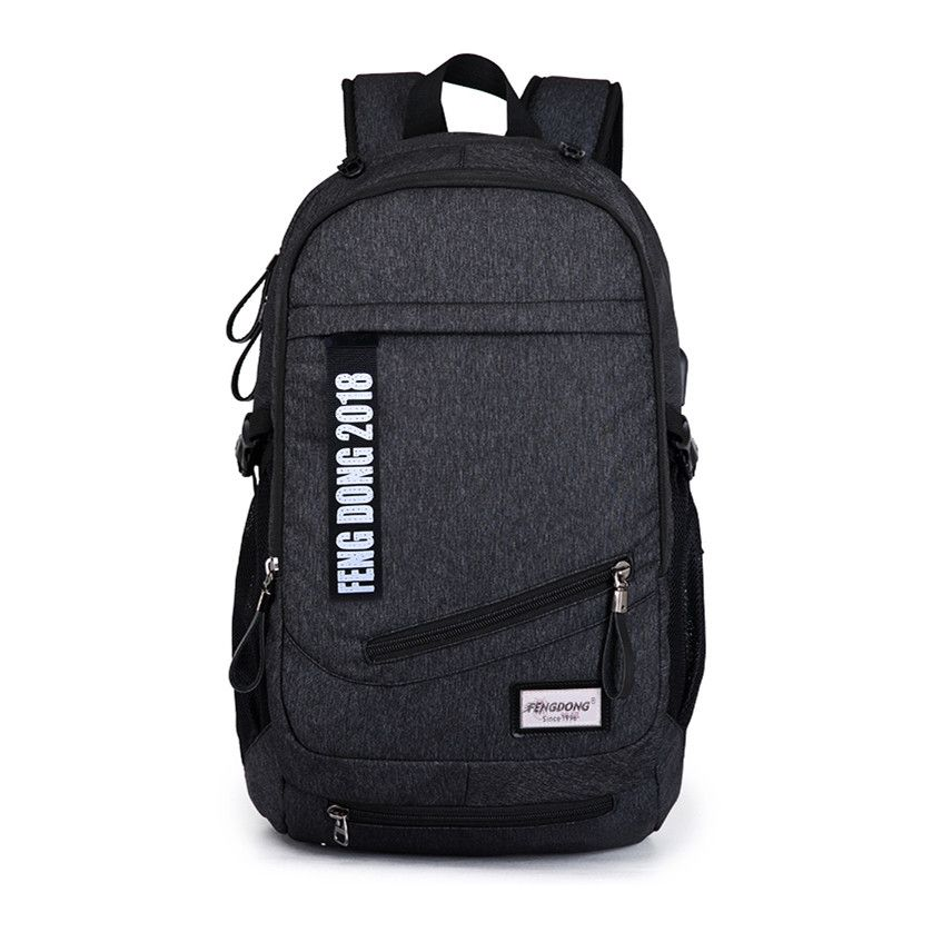 boys school bags men black USB backpack for school male backpacks big  student notebook bag women 8cfd640b97a41