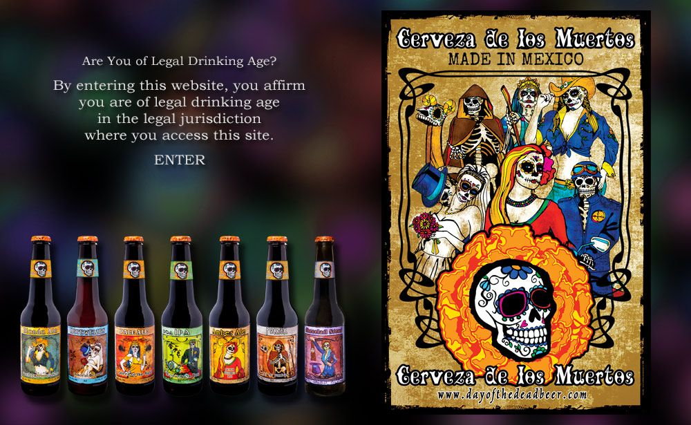 Day Of The Dead Beer Legal Drinking Age Beer Whiskey Bottle
