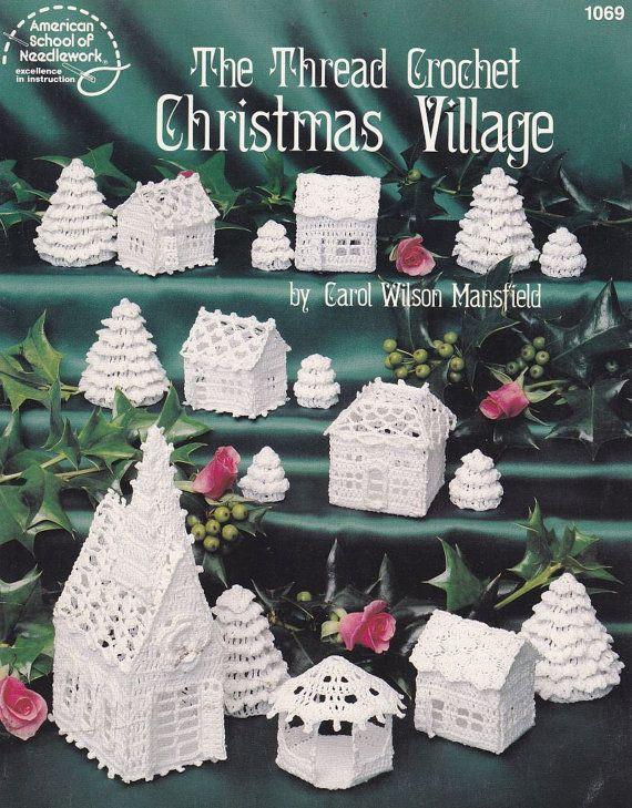 Christmas Village Crochet Patterns - Church, Houses, Trees