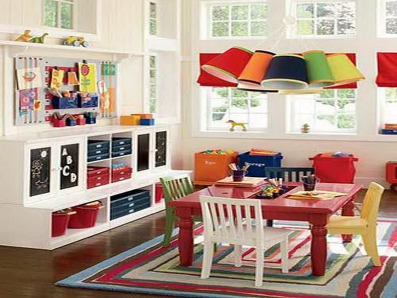 playroom decorating ideas with study table set