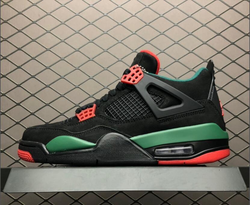"""d0693310d89a Shop Air Jordan 4 Retro NRG """"Do the Right Thing"""" 2019 Black Gorge Green-Varsity  Red AQ3816-063"""