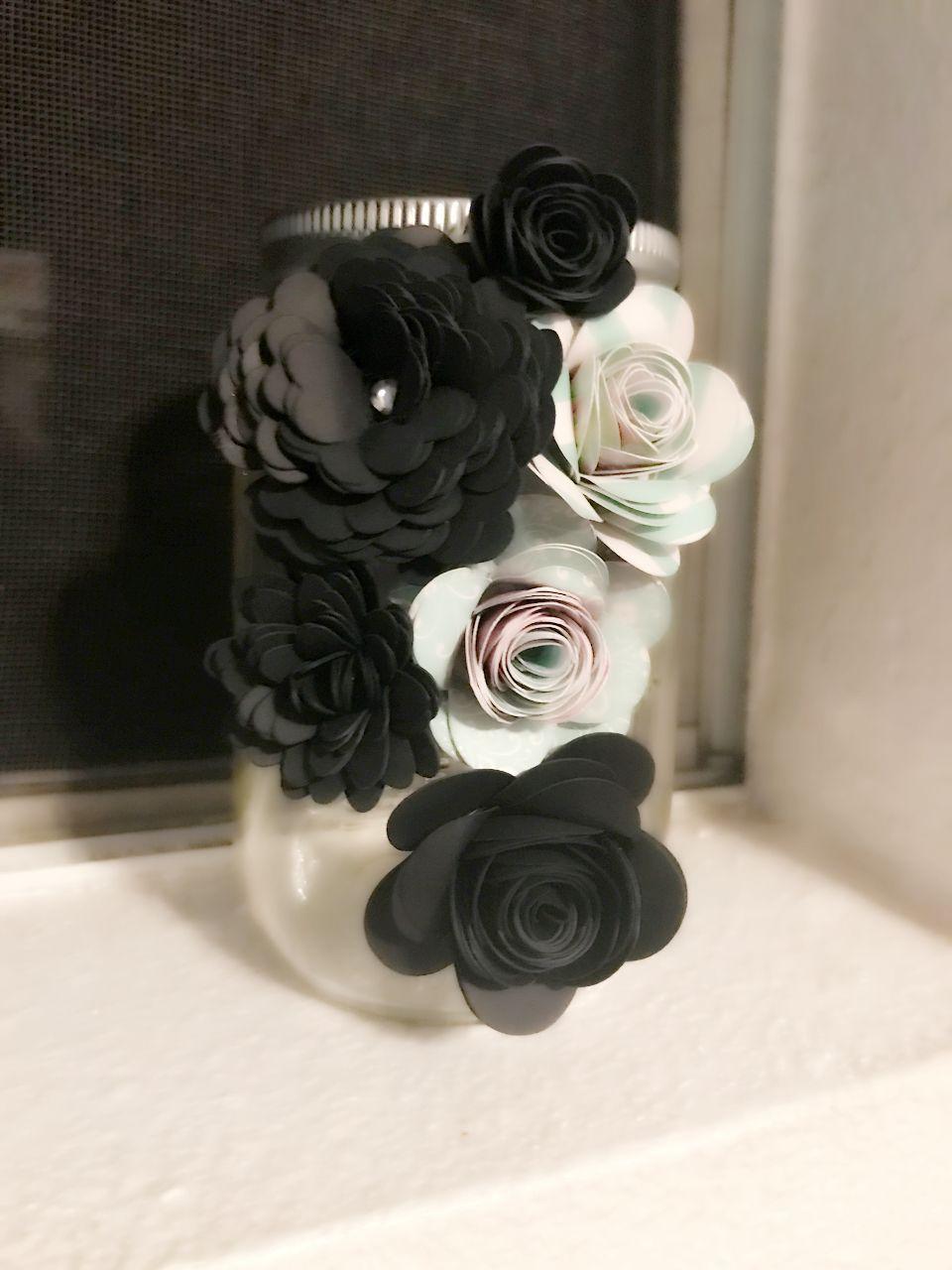 Paper Flower Jars Paper Flowers Dyi Mason Jars Flower Makeup
