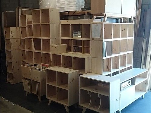 New Unfinished Pine LP Record Album / Storage Cubes. Sized For LP Record  Albums.