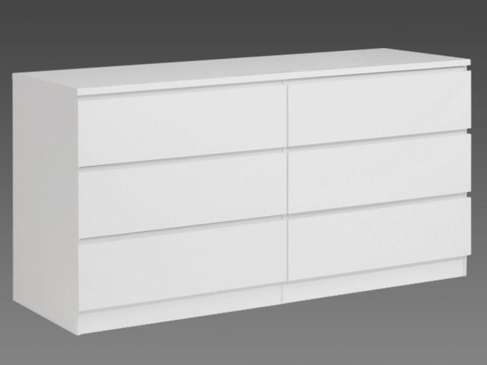 Commode ARMANCE - 6 tiroirs - coloris blanc Dressing Pinterest - conforama meuble bas cuisine