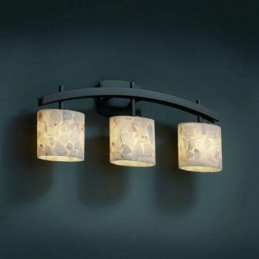 Justice Design Group ALR-8593-30-DBRZ Alabaster Rocks Bath Lighting Oval & Justice Design Group ALR-8593-30-DBRZ Alabaster Rocks Bath Lighting ...