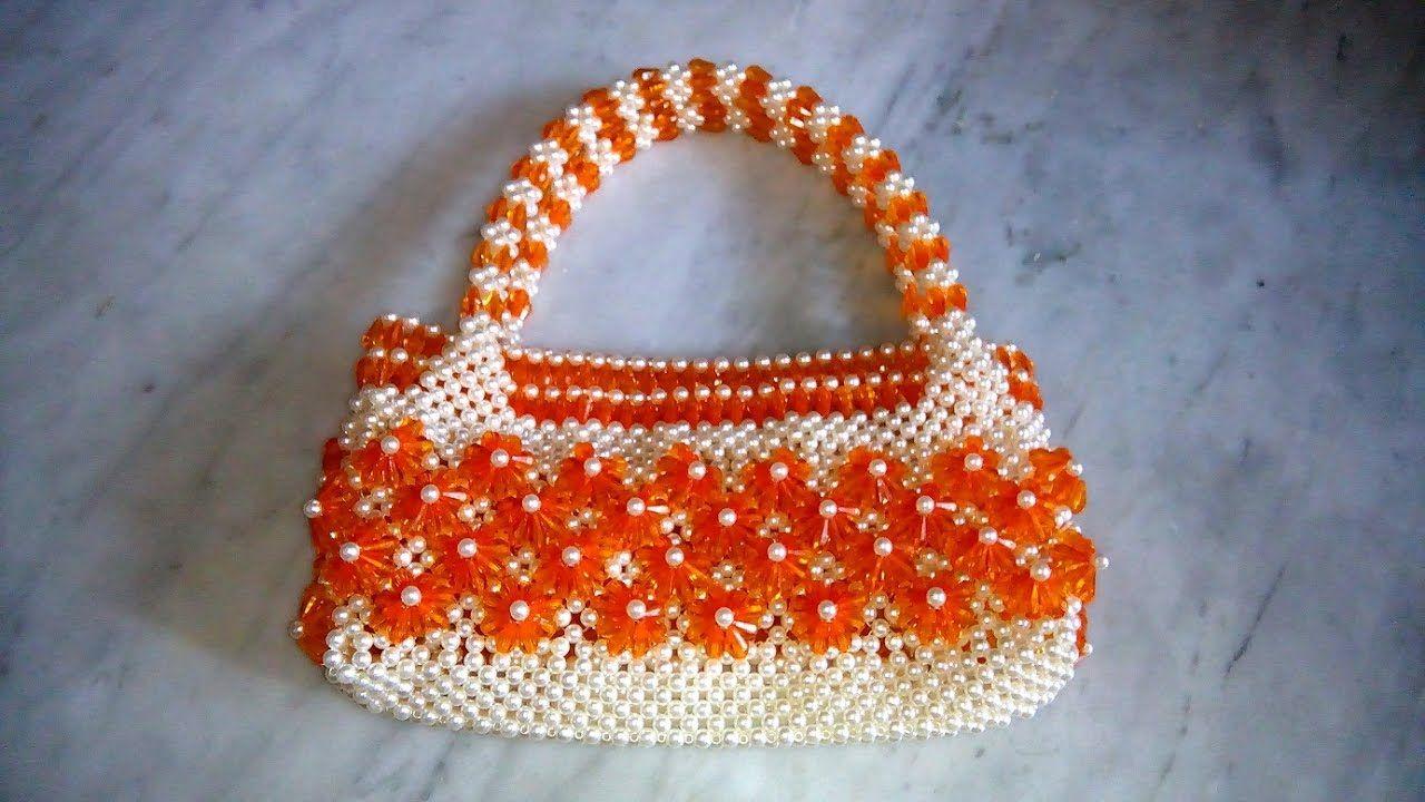 পুতির ব্যাগ/how to make a beaded purse (part-1)/beaded bag