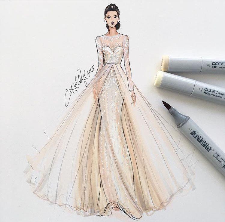 pin von the bridal concierge auf illustration inspiration pinterest mode zeichnen mode. Black Bedroom Furniture Sets. Home Design Ideas