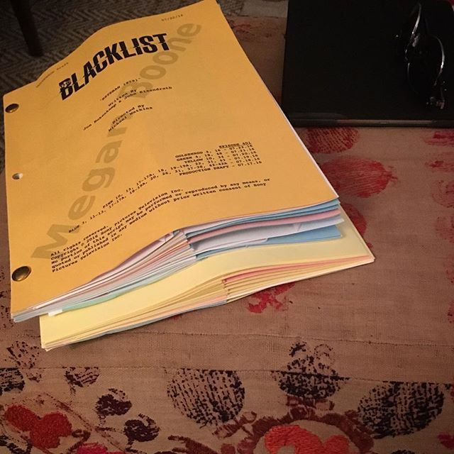 A packed week 2 w/ 2 episodes on our plate.  Ready to eat them up. #theblacklist @nbcblacklist (Megan Boone on IG 31.07.2016)