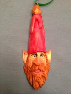 Hand Carved Elf Christmas ornament | Elves, Christmas Ornament and ...