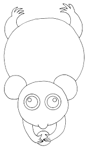 possum possums crafts coloring pages - photo#22
