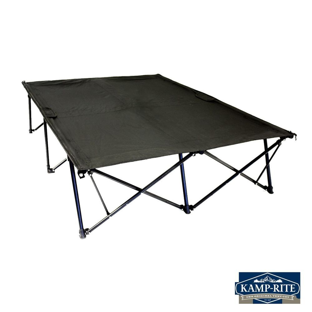Kwik Cot Quick Camp Double Portable Outdoor Bed Fold Two Person Tent Travel  New #NA