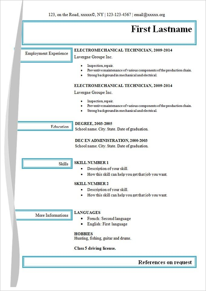 the 20 best ideas for free template for resume check more