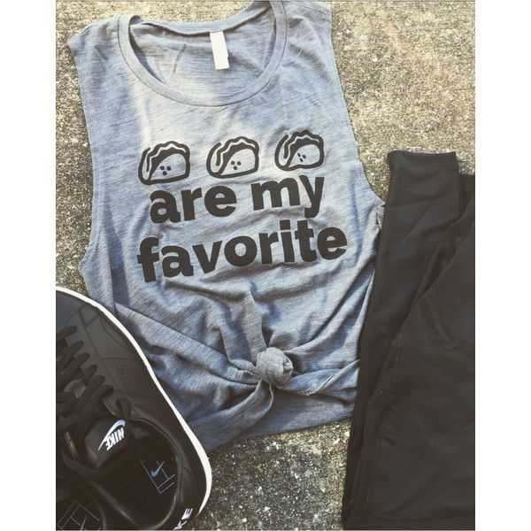 f6e21113082f Tacos Are My Favorite Muscle Tank Workout Tank Gym Shirt Funny Shirt... (