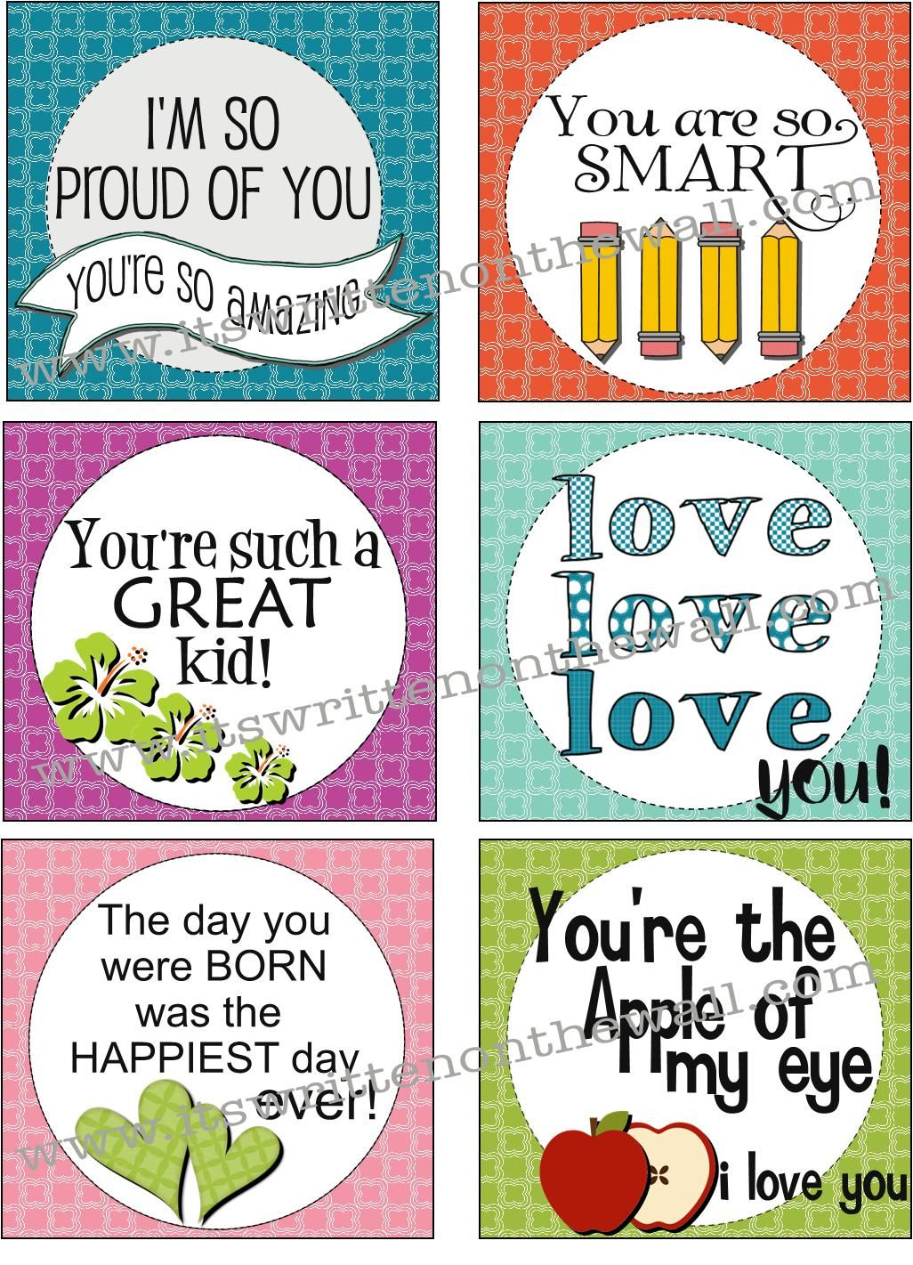 Freebie 30 New Lunchbox Notes For Back To School It S Written On The Wall