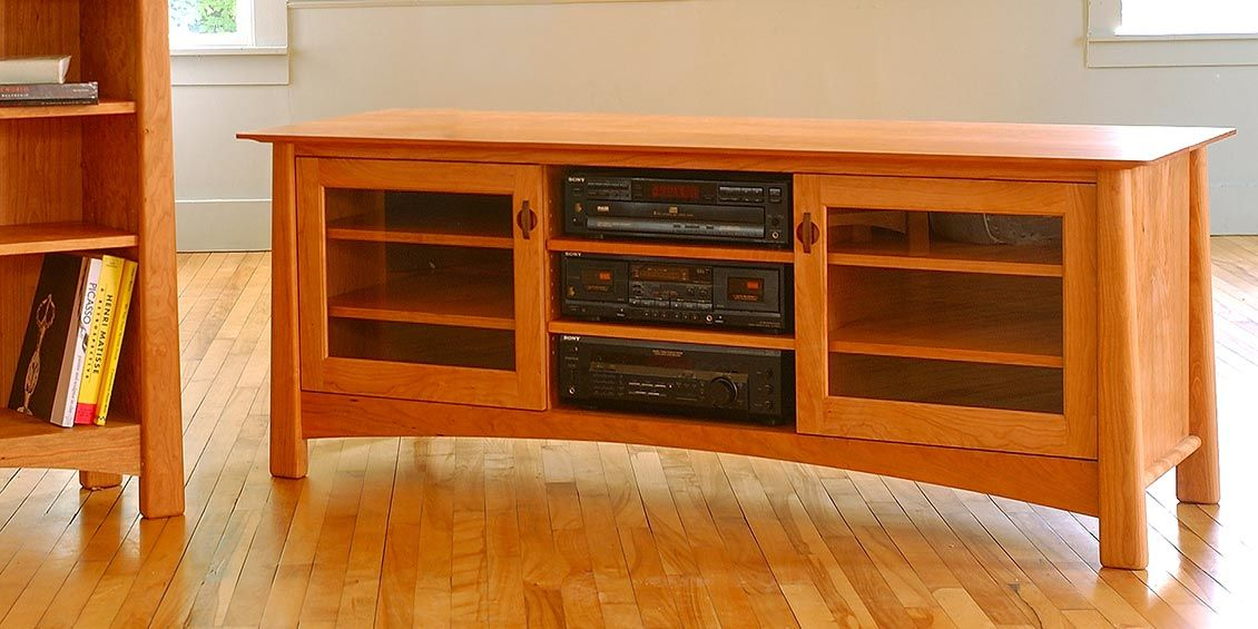 Captivating Solid Wood Media Center Consoles, TV Stands. Top Quality American Made
