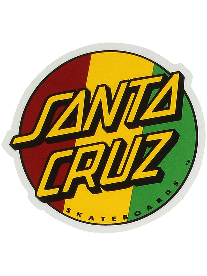 Santa cruz rasta dot sticker 1 49