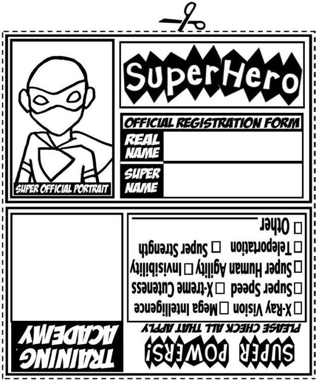 superhero id card girl scout pinterest superhero hero and