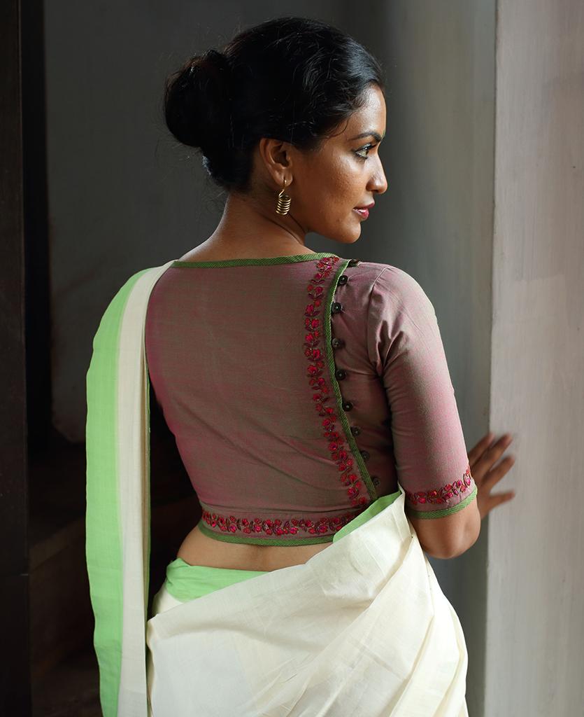 Saree blouse design for cotton saree the lasya blouse  blouse desgin  pinterest  blouse designs saree
