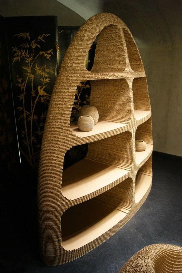 le meuble en carton au service du design cologique meuble en carton carton et tages. Black Bedroom Furniture Sets. Home Design Ideas