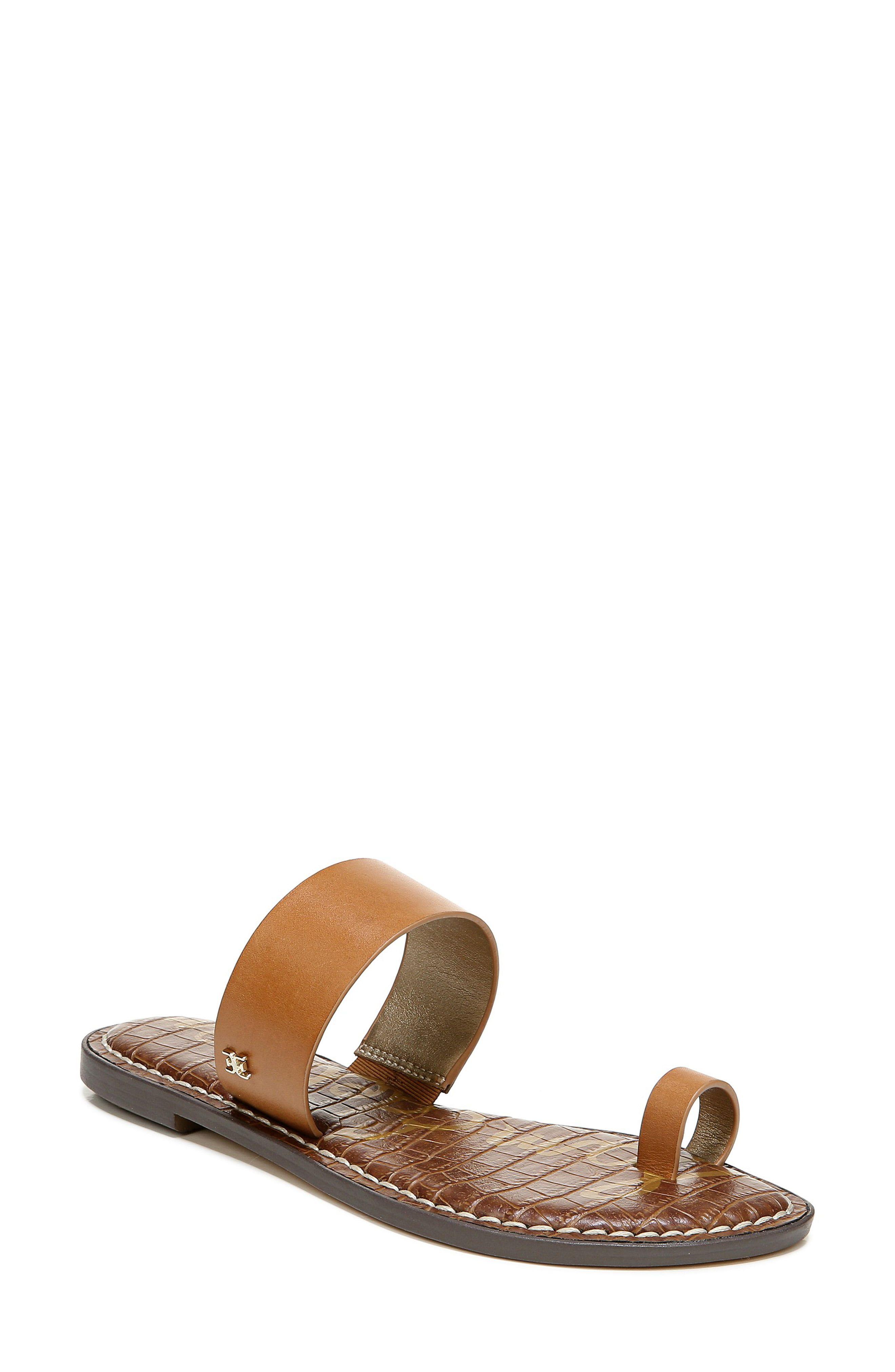 Women S Sam Edelman Gorgene Flat Sandal Size 5 M Black In 2020 Flat Sandals Sandals Flats