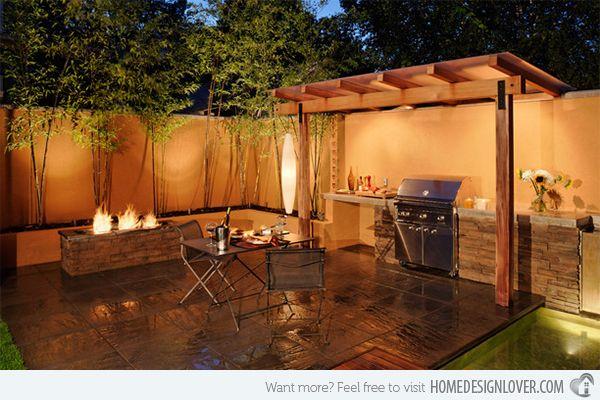 15 Dramatic Landscape Lighting Ideas Home Design Lover Backyard Barbecue Design Patio Design Outdoor Bbq Kitchen