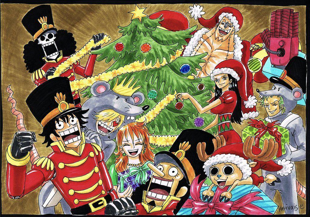 Merry Christmas Anime Christmas One Piece Drawing One Piece Anime