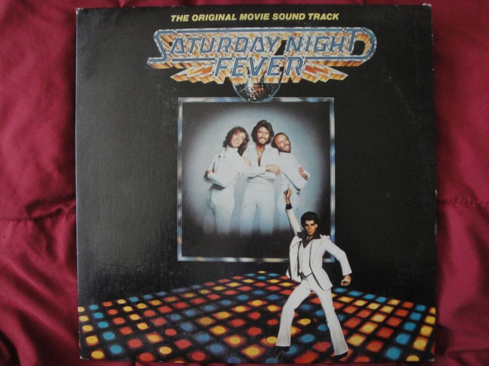 SATURDAY NIGHT FEVER SOUNDTRACK DOUBLE LP ORIGINAL 1977 RSO RECORDS RS-2-4001 EX #DiscoClassicRBFunkSoul