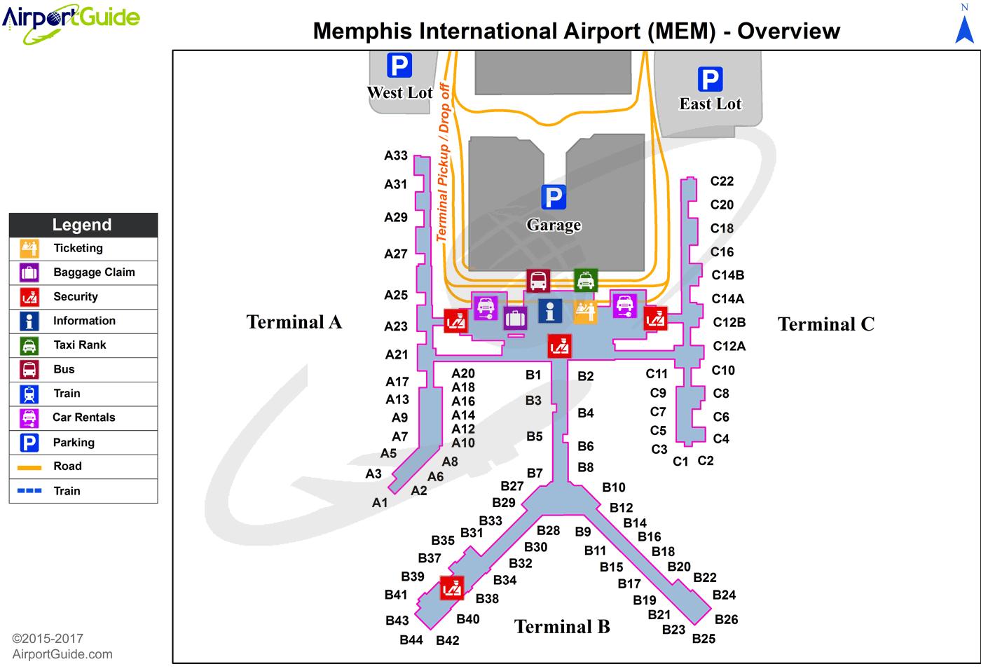 memphis international airport terminal map Memphis Memphis International Mem Airport Terminal Map memphis international airport terminal map