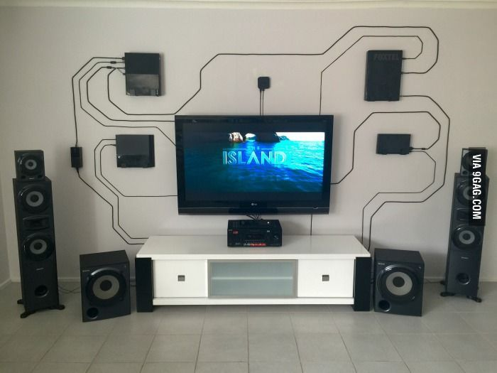 Using the wall instead of hiding everything. Wires can be cool ...