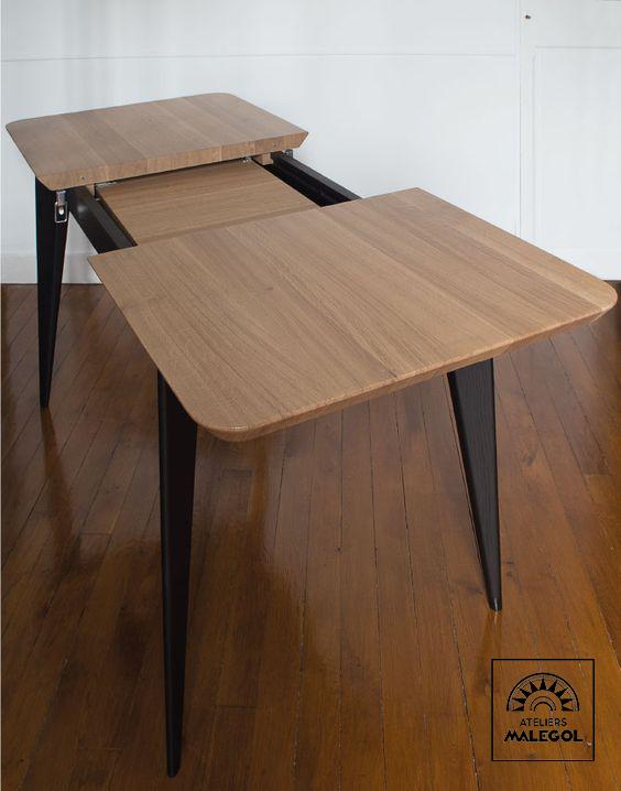 Table Bois Malegol Agencement Interieur Table A Rallonge Table Bois