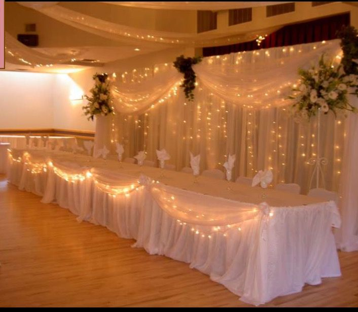 Image Result For Fancy Decoration Table With Images Head Table Wedding Head Table Wedding Backdrop Wedding Table