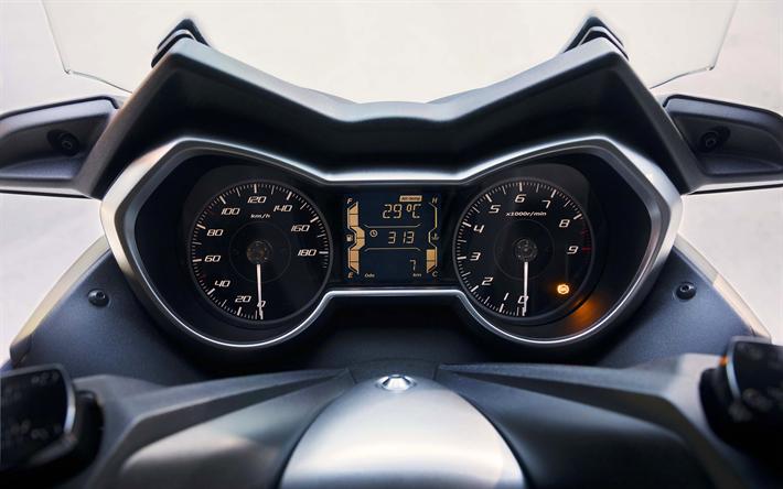 Download Wallpapers Yamaha X Max 400 Dashboard 4k 2018 Bikes