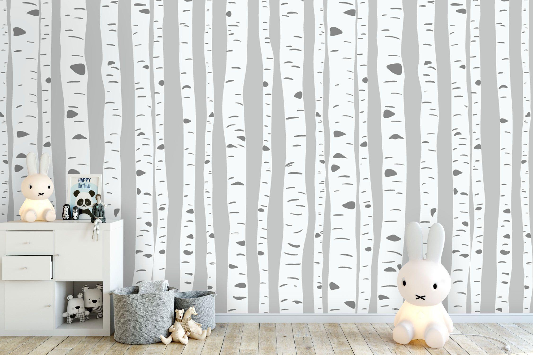 Fototapete Kinderzimmer Wald : tapete fototapete kinderzimmer babyzimmer birken ~ Watch28wear.com Haus und Dekorationen
